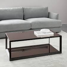 lia mirrored coffee table