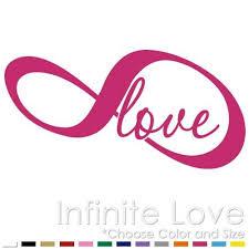 Amazon Com Infinite Love Symbol Infinity Endless Car Window Vinyl Decal Sticker Lv 02 Handmade