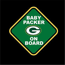This Greenbay Packers Baby On Board Car Window Decal Is Adorable And Will Light Up Your World The Deca Green Bay Packers Baby Packers Baby Green Bay Packers