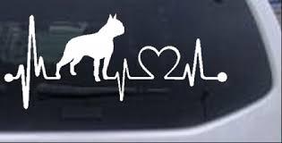 Boston Terrier Heartbeat Lifeline Monitor Dog Car Or Truck Window Decal Sticker Rad Dezigns