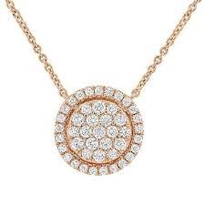 0 50ct 14k rose gold round cut diamond
