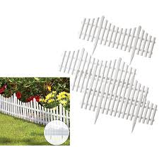 4 Pack Plastic Effect Lawn Border Edge Garden Landscape Edging Flexible White Picket Fencing Set Buy Garden Fence Plastic Garden Fence Garden Edging Fence Product On Alibaba Com