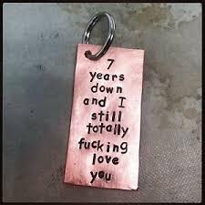funny 7 year wedding anniversary copper