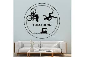 Irritative Triathlon Vinyl Wall Stickers For Living Room Bedroom Decoration Wish