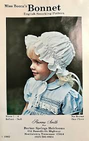 MISS BECCA'S BONNET PATTERN ~ BY ROWENA SMITH ~ NO SEAMS ~ ONE ...