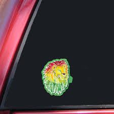 Cm272 Kats Creations Batik Rasta Lion Roots Reggae Mini Decal Sticker