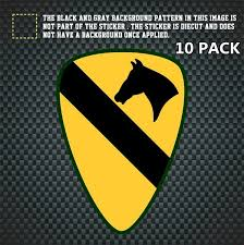 10 Pack 1st Cavalry Division Sticker Decal Self Adhesive Vinyl First Team Cav Fort Hood Wish