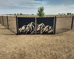 Metal Privacy Screen Fence Decorative Panel Wall Art Etsy In 2020 Privacy Screen Outdoor Privacy Screen Decorative Panels