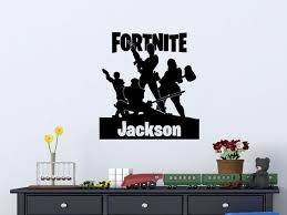 Fortnite Personalized Vinyl Wall Decal Decals By Droids
