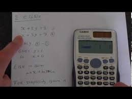 how to solve equations using casio fx