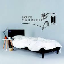 Bts Love Yourself Wall Sticker K Pop Naklejka Wall Art Decor Decal Print Decor Ebay