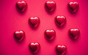 تحميل خلفيات قلوب الشوكولاته الحلوى خلفية حمراء الأحمر حلوى