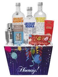happy birthday absolut vodka gift set