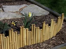 Spring Is Around The Corner Start Preparing Your Garden With Our Bamboo Borders They Emphasize A Plac Bamboo Garden Bamboo Garden Fences Diy Garden Fence