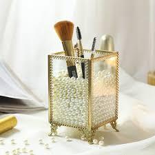 pearls brush holder cosmetic organizer