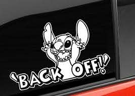 Stitch Back Off Window Decal Sticker Custom Sticker Shop