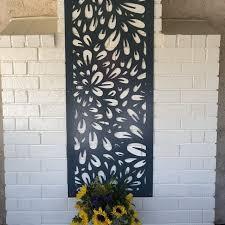 Branch2 Metal Privacy Screen Decorative Panel Outdoor Garden Etsy In 2020 Fence Art Metal Wall Art Panels Garden Fence Art