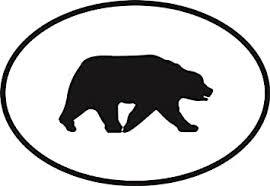 Amazon Com Black Bear Euro Oval Bumper Sticker Automotive