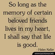 quotes about friends memory quotes