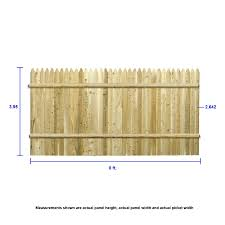 Severe Weather 4 Ft H X 8 Ft W Cedar Stockade Fence Panel In The Wood Fence Panels Department At Lowes Com