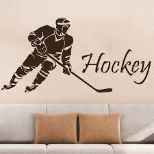 Hockey Wall Decals Hockey Player Sport Gym Wall Decor Removable Vinyl Wall Art Poster Vinilos Paredes Murals Muurstickers A275 Vinilos Paredes Wall Decalsvinyl Wall Aliexpress