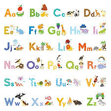 Decowall Da 1708 My First Alphabet Abc With Pictures Kids Wall Decals Wall Stickers Peel And Stick Removable Wall Stickers For Kids Nursery Bedroom Living Room Ciocathermecie