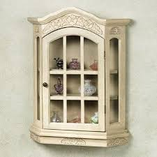 wall curio cabinet glass cabinet doors
