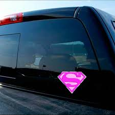 Superman Playboy Pink Sexy Girl Decal