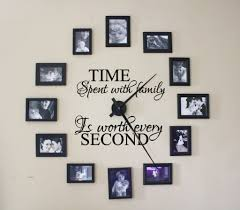 Time Spent With Family Is Worth Every Second Wall Decal For Clock De Lucky Girl Decals