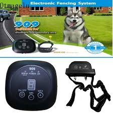 New 909 Safety Pet Dog Electric Fence With Waterproof Chargable Dog Training Collar Professional Underground Electric Dog Fence Training Collars Aliexpress