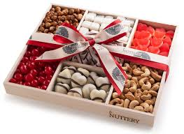 chocolate nut candy 7 section gift tray