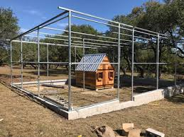 Chicken Coop Perimeter Fence Driveway Gate Arched Liberty Hill Tx