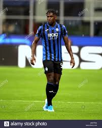 MILAN, ITALY - October 1, 2019: Duvan Zapata looks on during the ...
