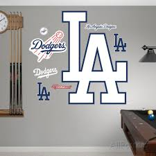 Los Angeles Dodgers Alternate Logo Wall Decal Allposters Com Logo Wall Mens Room Decor Sports Wall Decor