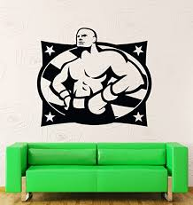 Amazon Com Wall Stickers Vinyl Decal Usa Boxing Boxer Fighter Martial Arts Decor Z1946i Home Kitchen