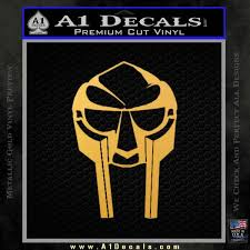 Mf Doom Mask D1 Decal Sticker Spartan Molon Labe Helmet A1 Decals