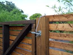 Modern Wood Fence Finished Mymcmlife Com