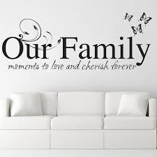 Our Family Family Wall Sticker Decal Quote Bouf Com