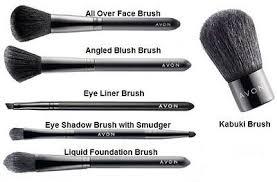 avon make up brushes angled blusher