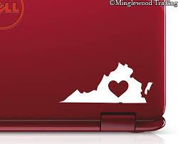 2x Virginia Heart 3 X 1 5 Vinyl Decal Stickers Love Rva Richmond Va Beach Charlottesville 20 Color Options Minglewood Trading
