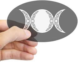 Amazon Com Cafepress Triple Goddess Moon Symbol Oval Bumper Sticker Euro Oval Car Decal Home Kitchen