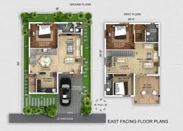 3 bhk duplex house plans east facing