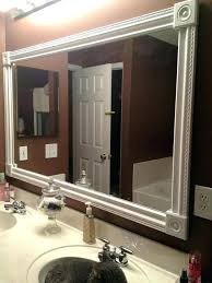 bathroom mirror edging bathrooms