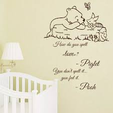 New Wall Decal Quote Winnie The Pooh Decals Kids Vinyl Sticker Nursery Decor Free Shipping Nursery Decor Wall Decals Quotesvinyl Stickers Aliexpress