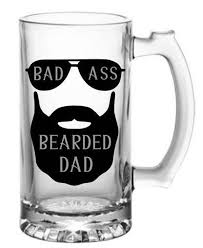 Bad Ass Bearded Dad Vinyl Decal Bad Ass Dad Vinyl Decal Dad Etsy
