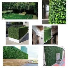 Ejoy Gorgeoushome Artificial Boxwood Hedge Greenery Panels Jasmineleaf 20 In X 20 In 6 Piece Hedge Jasmineleaf 6pc The Home Depot