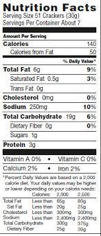 goldfish ers food label