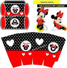 Kit Imprimible Invitaciones Minnie Roja 49 00 En Mercado Libre