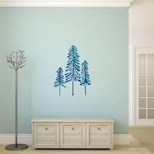 Blue Pine Trees Interior Decor Wall Art Sticker Decal By Catcoq Kismet Decals