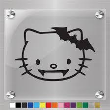 Hello Kitty Vampire Decal Vinyl Sticker